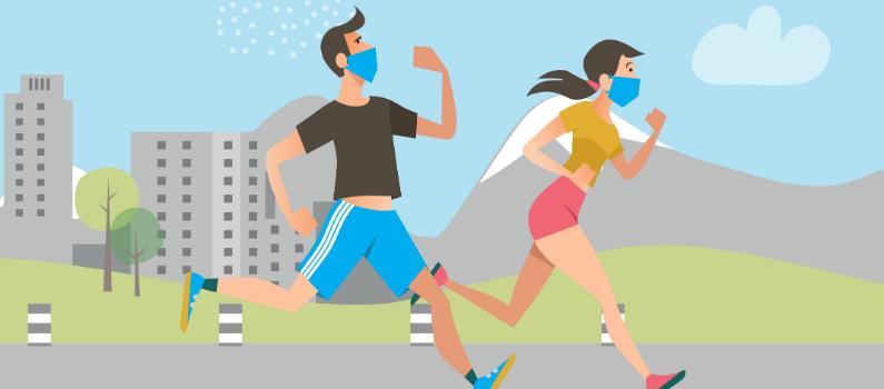 hacer ejercicio y correr con mascarilla a que intensidad