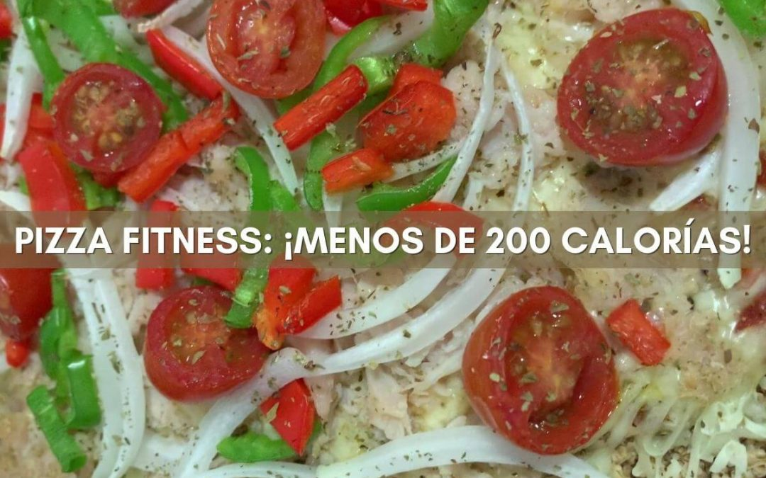 PIZZA FITNESS Con masa casera de avena baja en calorías