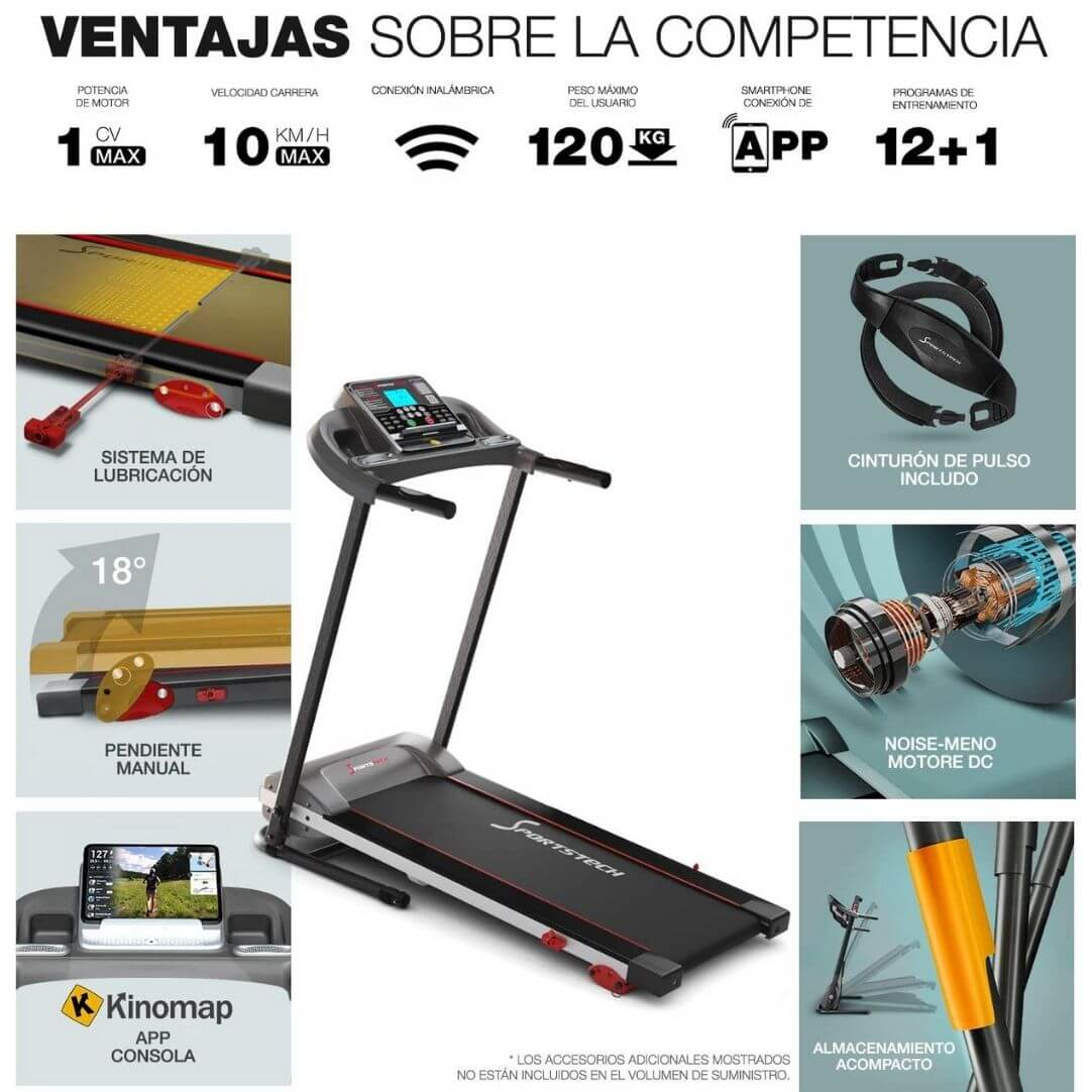 ventajas sportstech f10 cinta de correr comparativa 2020