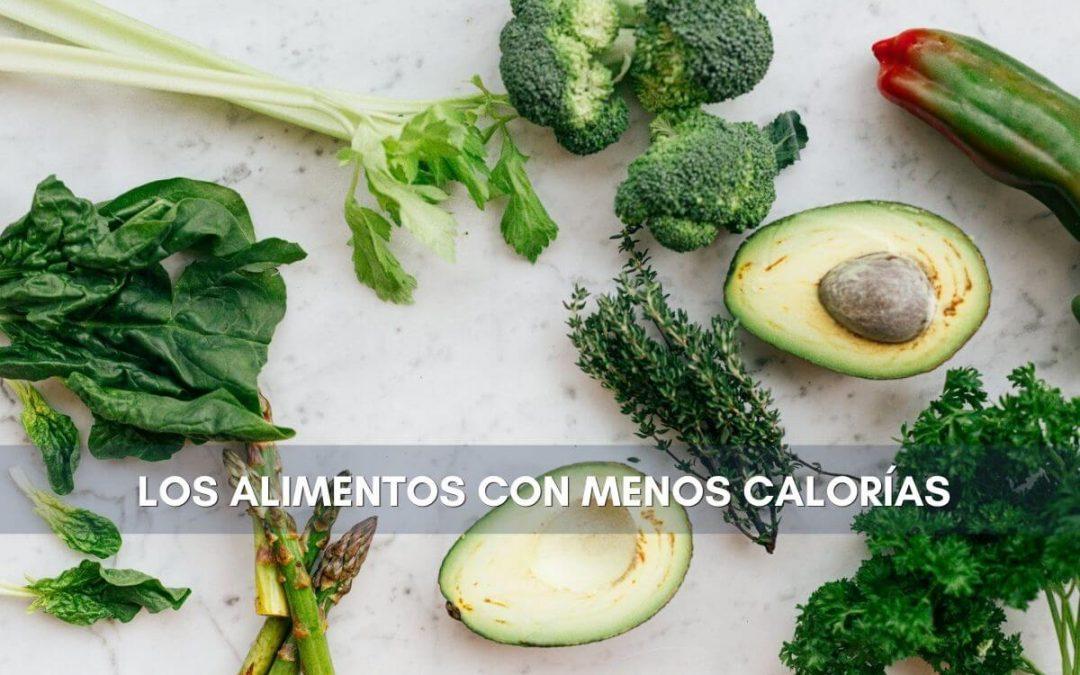 alimentos y bebidas con menos calorias