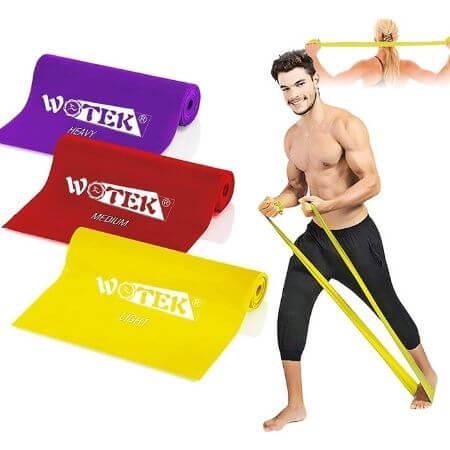 Bandas Elasticas Fitness Goma Resistencia Bandas de Ejercicios para Yoga, Pilates, Crossfit, Estiramientos, Fisioterapia, Entrenamiento de Fuerza