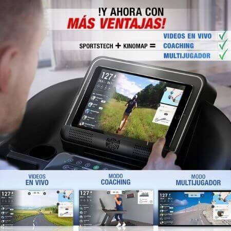 cinta de correr sportstech f37 aplicaciones kinomap programas de entrenamiento profesional