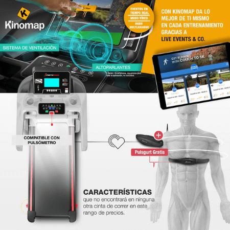 pulsometro sistema de ventilacion altavoces consola de la sportstech f37 cinta de correr profesional plegable para casa