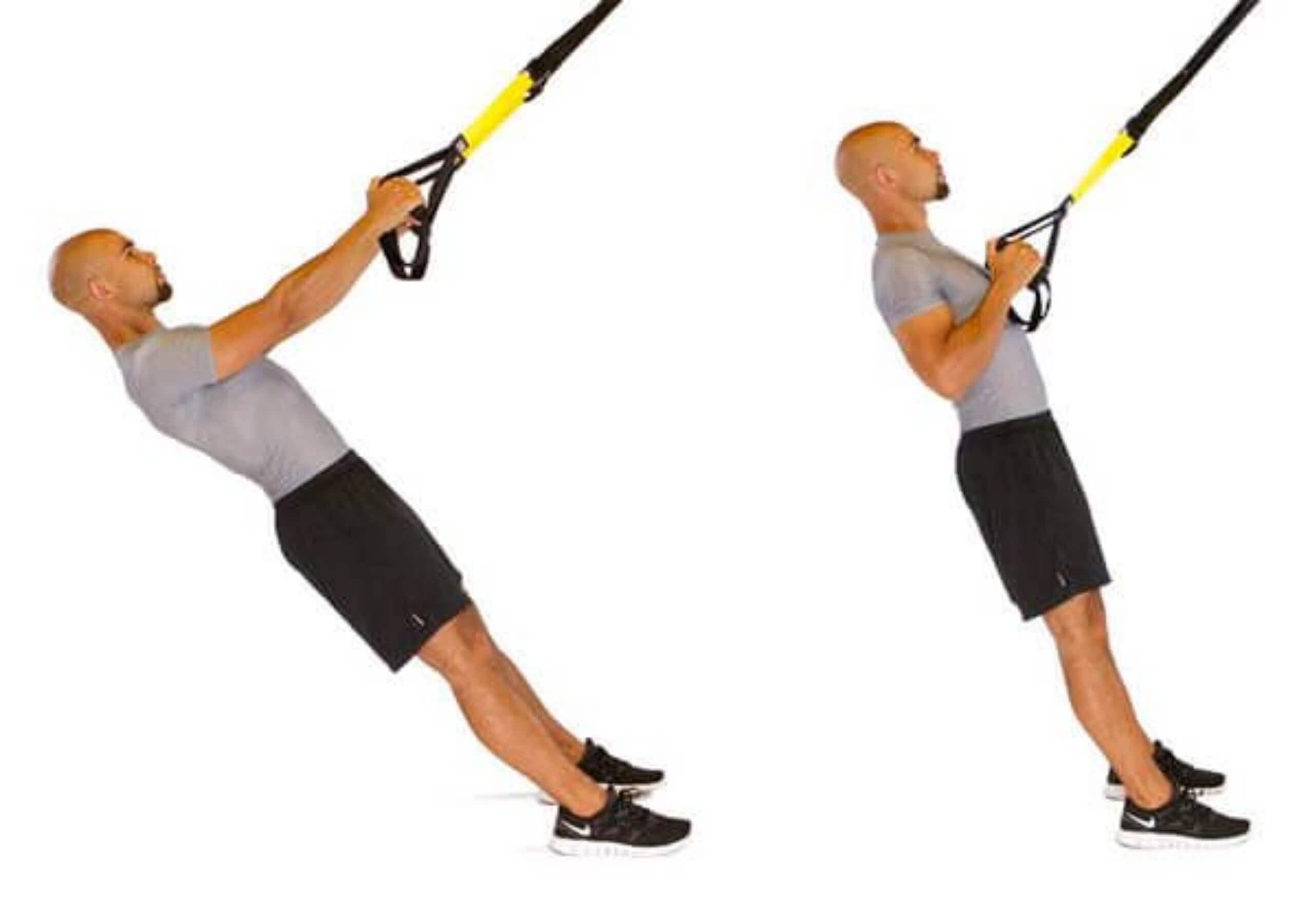 trx fila ejercicios para entrenar en casa biceps trx