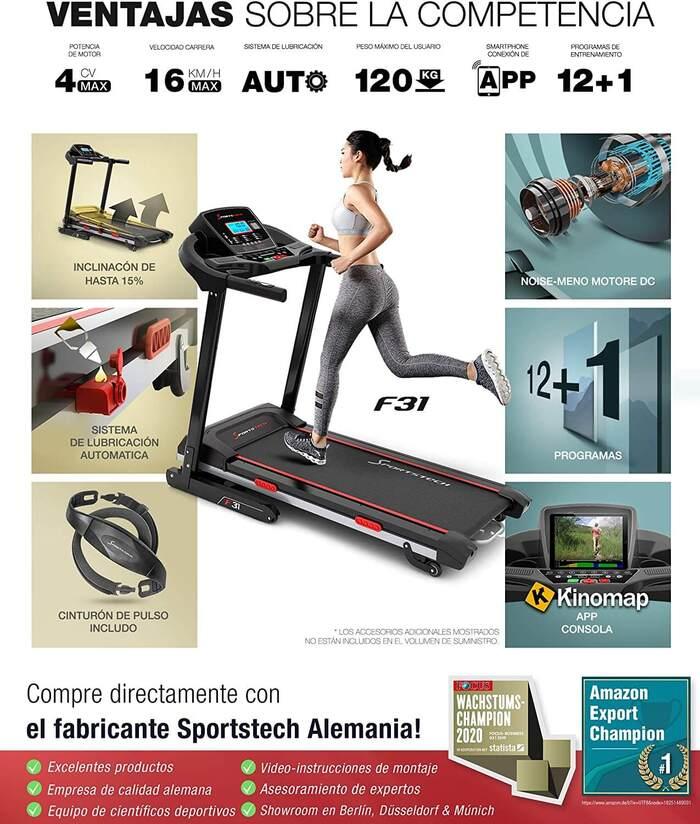 sportstech f31 ventajas sobre la competencia cinta de correr